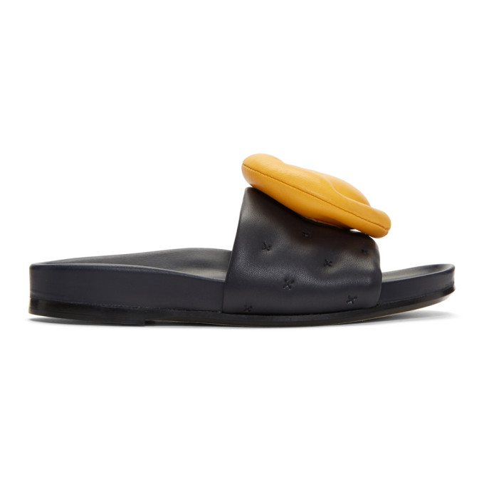 Image of Anya Hindmarch Navy Chubby Wink Slides