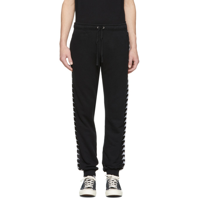 Image of Faith Connexion Black Kappa Edition Jogger Pants