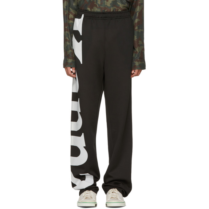 Image of Faith Connexion Black Kappa Edition Baggy Lounge Pants