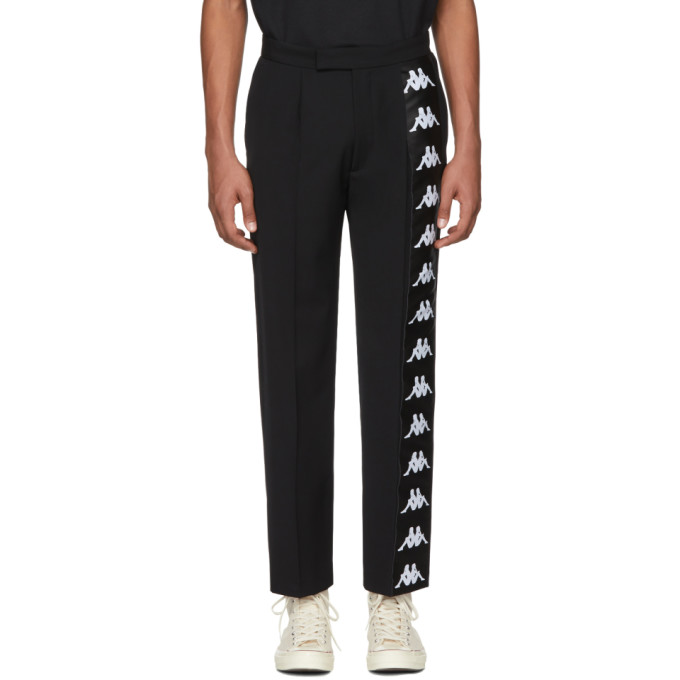 Image of Faith Connexion Black Kappa Edition Logo Trousers