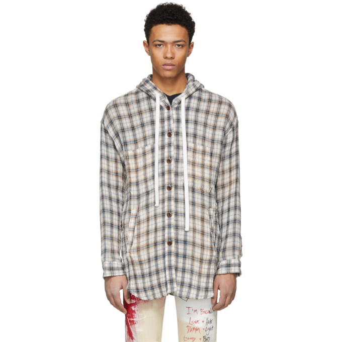 Image of Faith Connexion Beige Hooded Overshirt