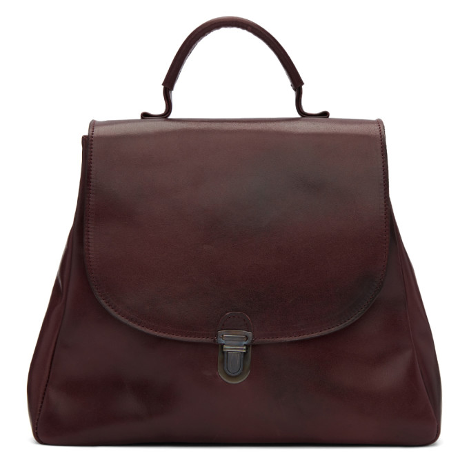 Cherevichkiotvichki Burgundy Flat Small Lock Bag