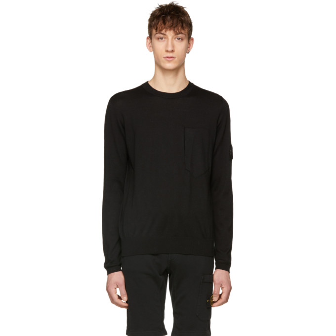 Image of Stone Island Shadow Project Black Arm Badge Pullover