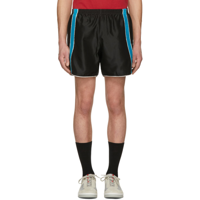 Image of Ribeyron Black & Blue Fitness Shorts