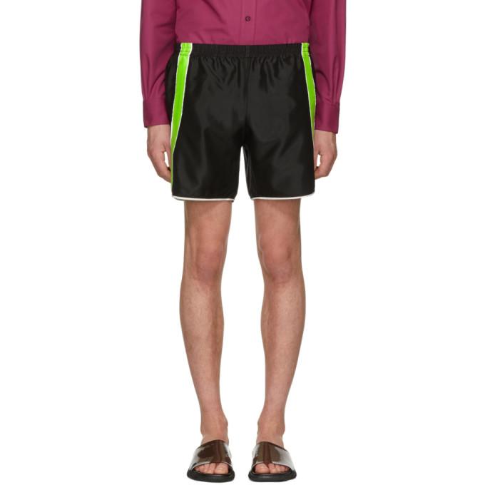 Image of Ribeyron Black & Green Fitness Shorts