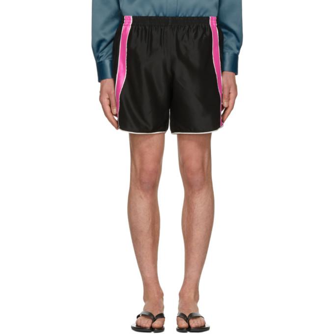 Image of Ribeyron Black & Pink Fitness Shorts