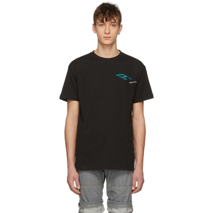 Image of Ribeyron Black Perspective Logo T-Shirt