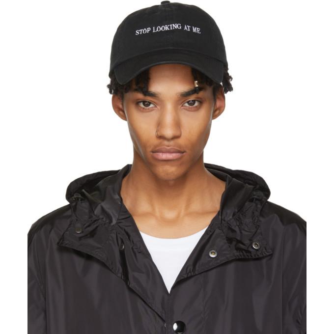 Image of Nasaseasons Black 'Stop Looking At Me' Cap