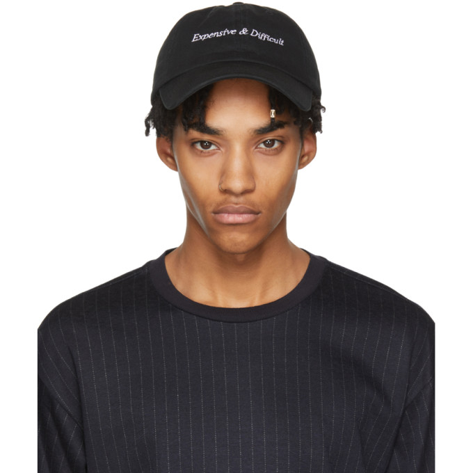 Image of Nasaseasons Black 'Expensive & Difficult' Cap