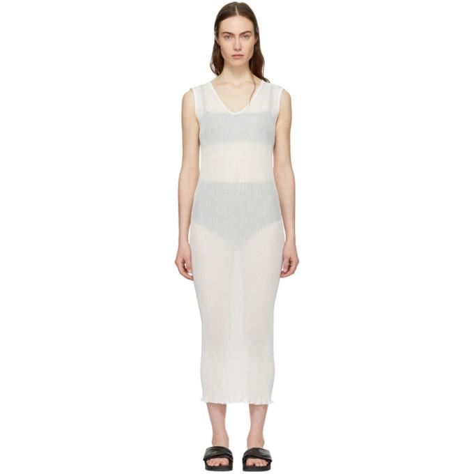 Image of Lauren Manoogian White Cotton Accordion Dress