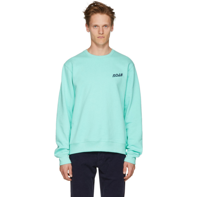 Image of Noah NYC Blue 'Deep Sea' Sweatshirt