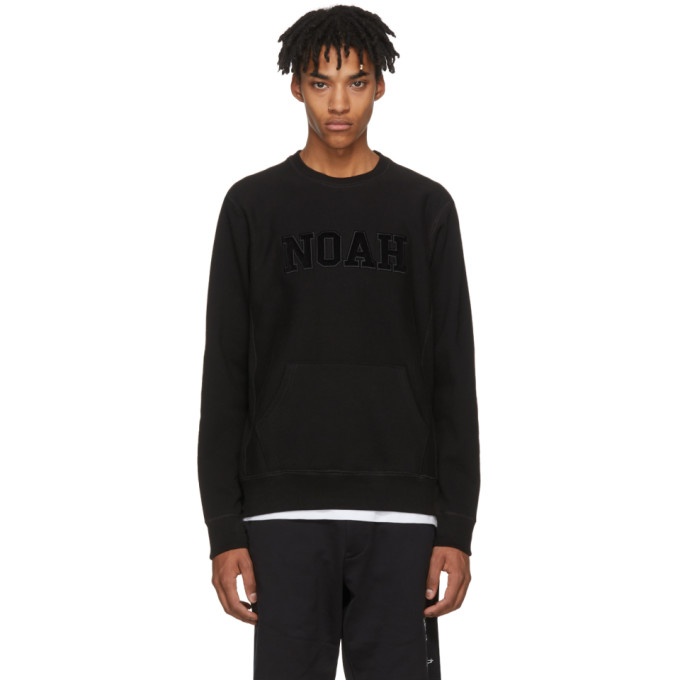 Image of Noah NYC Black Logo Core Crew Sweatshirt