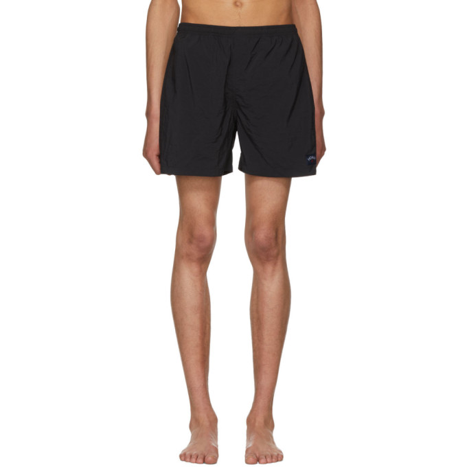 Image of Noah NYC Black Swim Shorts