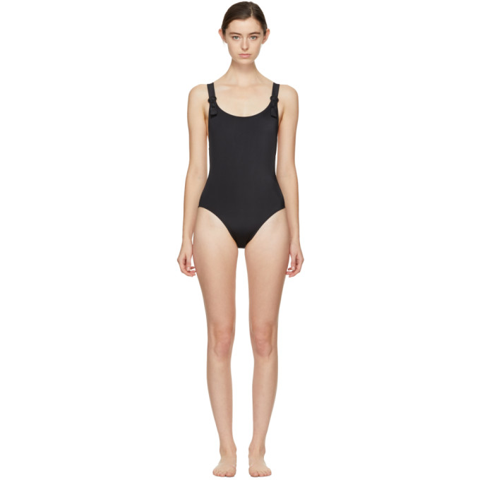Image of Solid & Striped Black 'The Lucy' Swimsuit