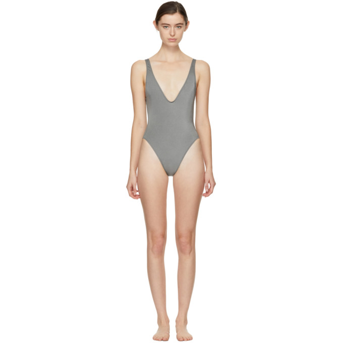 Solid & Striped Gunmetal The Michelle Swimsuit