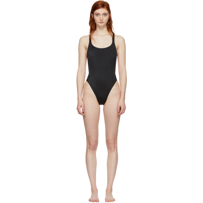 Solid & Striped Black The Robin Swimsuit