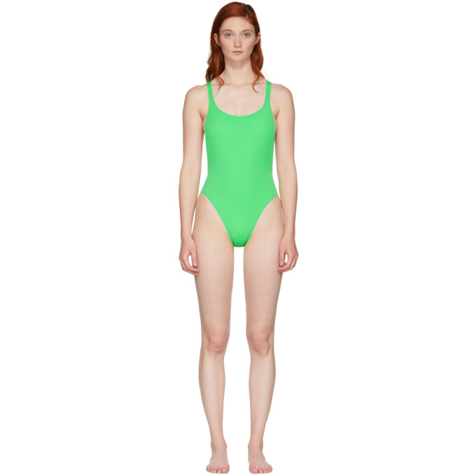 Solid & Striped Green The Robin Swimsuit