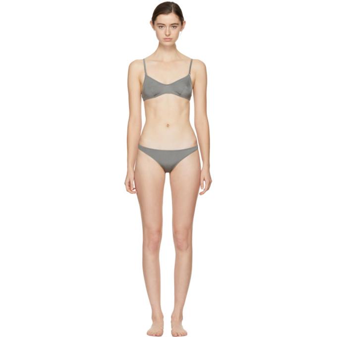 Solid & Striped Gunmetal The Rachel Bikini
