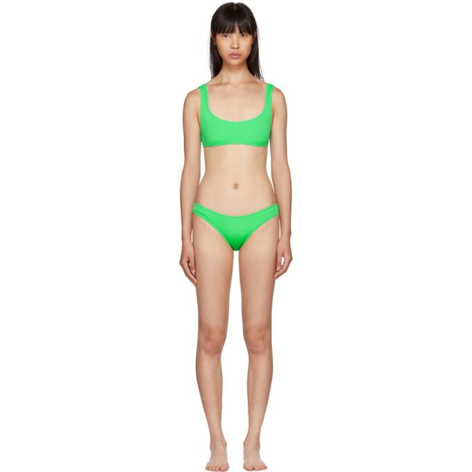 Solid & Striped Green The Elle Bikini