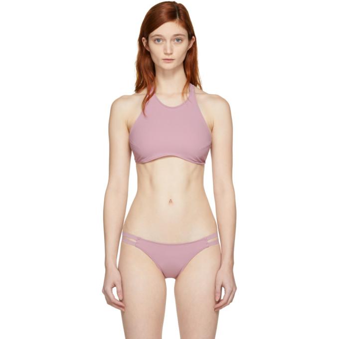 Ward Whillas Haut de bikini rose Delphine