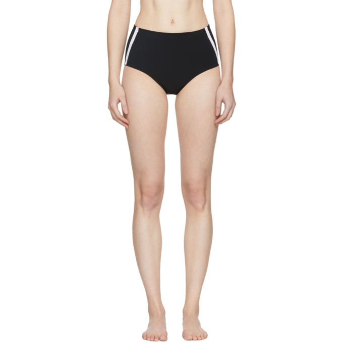 Image of Ward Whillas Reversible Black Faye High-Rise Bikini Bottoms