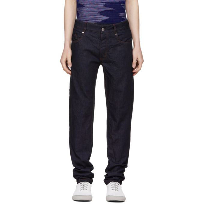 Image of Missoni Blue Fitted Denim Trousers