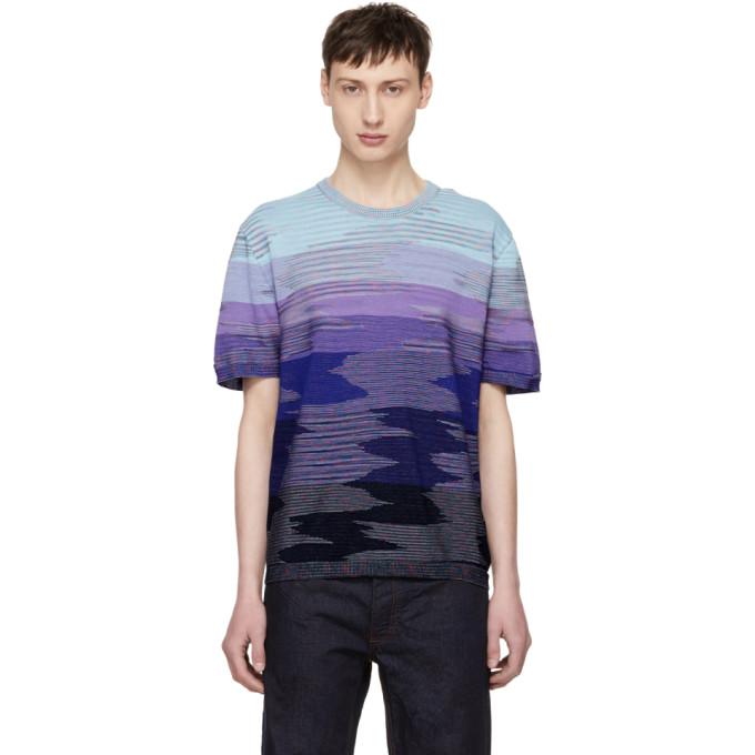 Image of Missoni Blue 3D Effect T-Shirt
