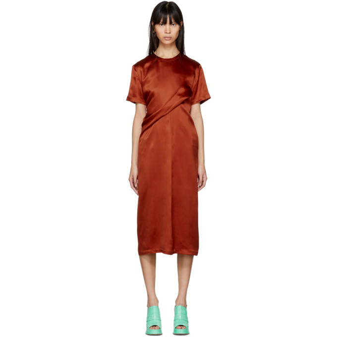 Sies Marjan Orange Waverly Twist Dress