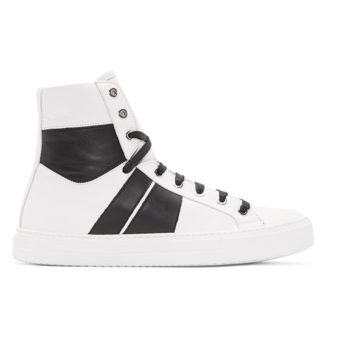 Amiri White & Black Sunset High-Top Sneakers