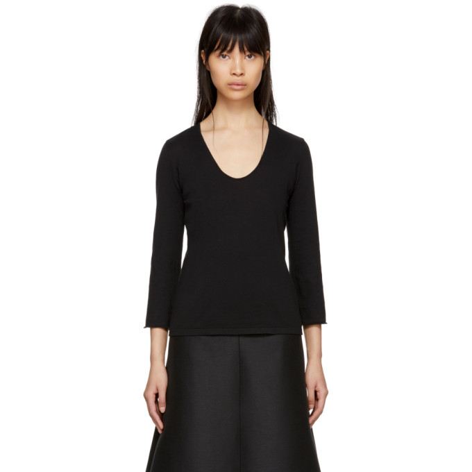 Image of Moderne Black Studio Knit Sweater