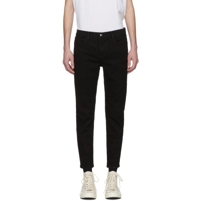 Image of Enfants Riches Déprimés Black Embroidered Jeans