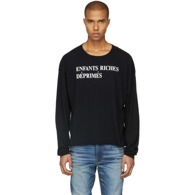 Image of Enfants Riches Déprimés Black Long Sleeve Logo T-Shirt