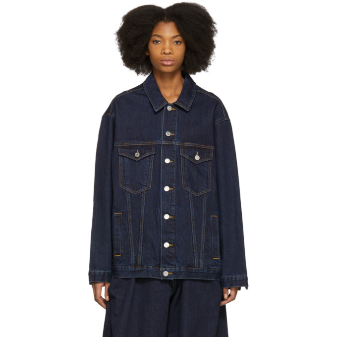 Image of Martine Rose Indigo Oversized Denim Jacket