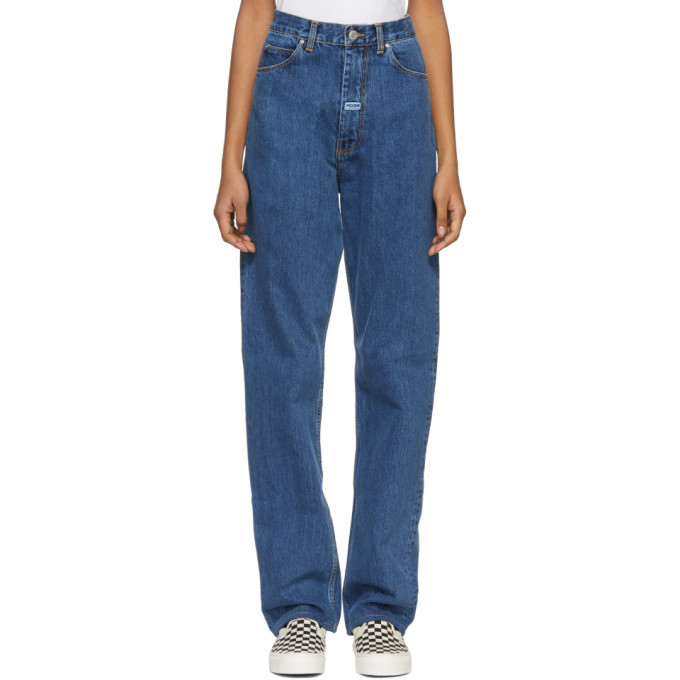 Image of Martine Rose Indigo High-Waisted Jeans