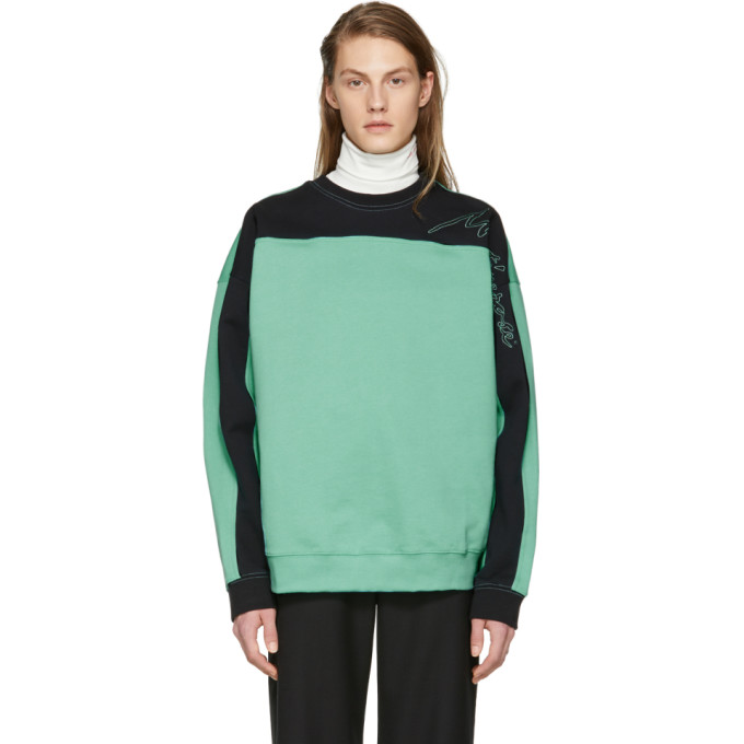 Image of Martine Rose Green & Black Collapsed Sweatshirt