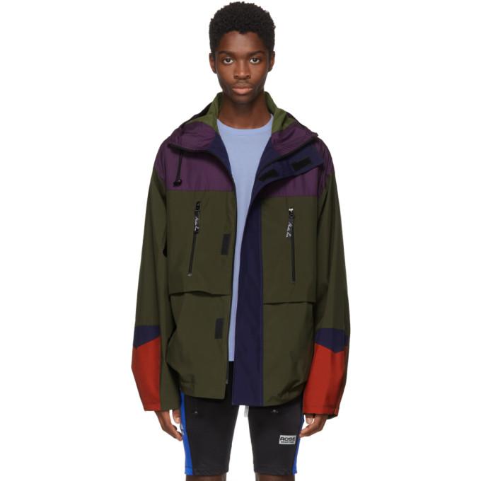Martine Rose Green & Purple Colorblock Raincoat