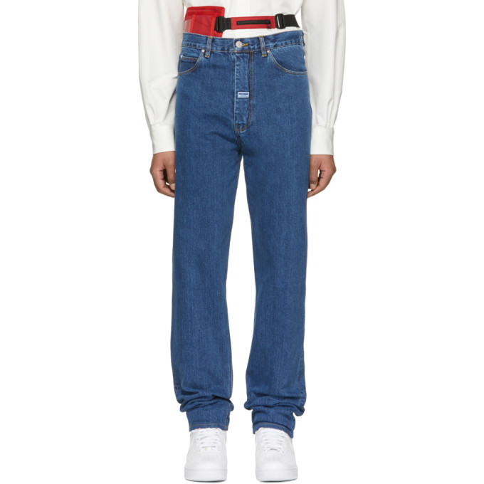 Martine Rose Indigo High Waisted Jeans
