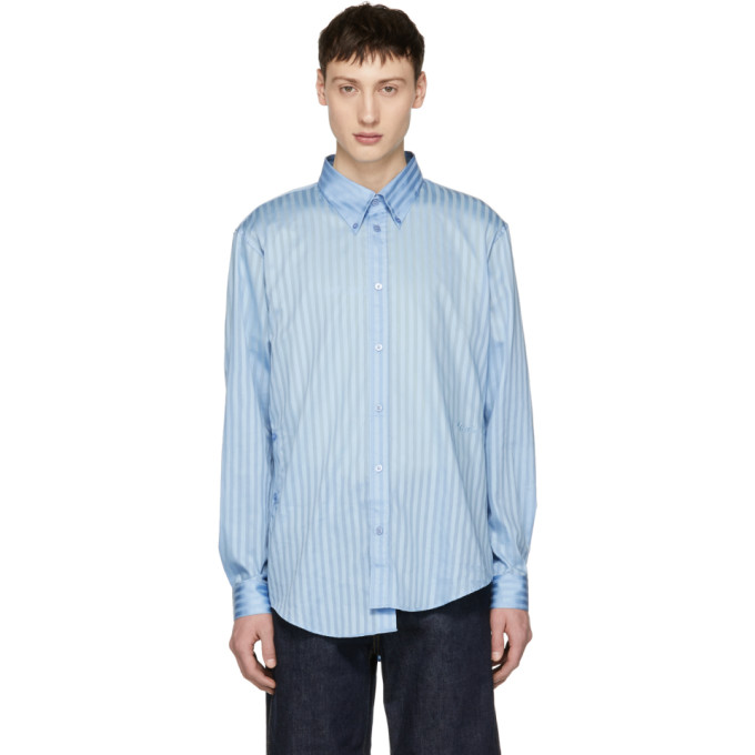 Image of Martine Rose Blue Wrap Shirt