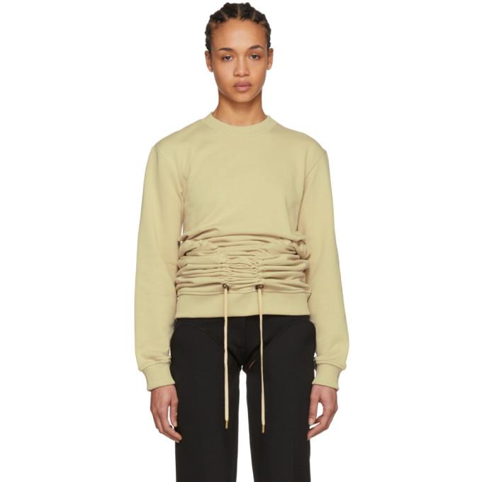 Image of Y/Project Beige Corset Sweatshirt