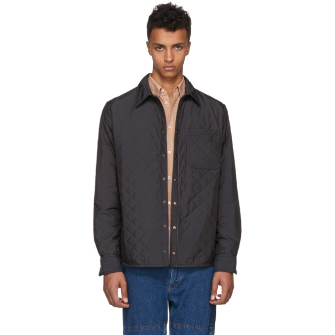 Image of Y/Project Black Quilted Shirt