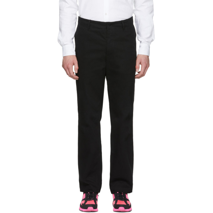 Image of Rochambeau Black Relaxed Fit Trousers