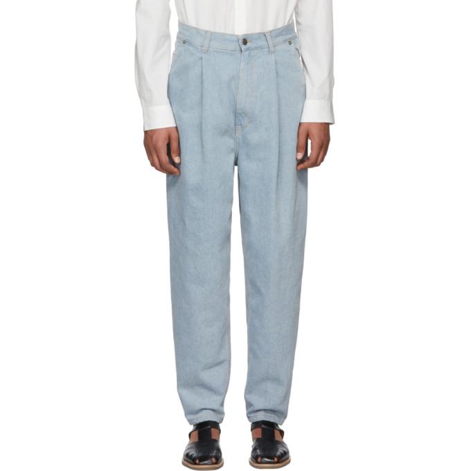 Image of Hed Mayner Blue Vintage Denim Jeans