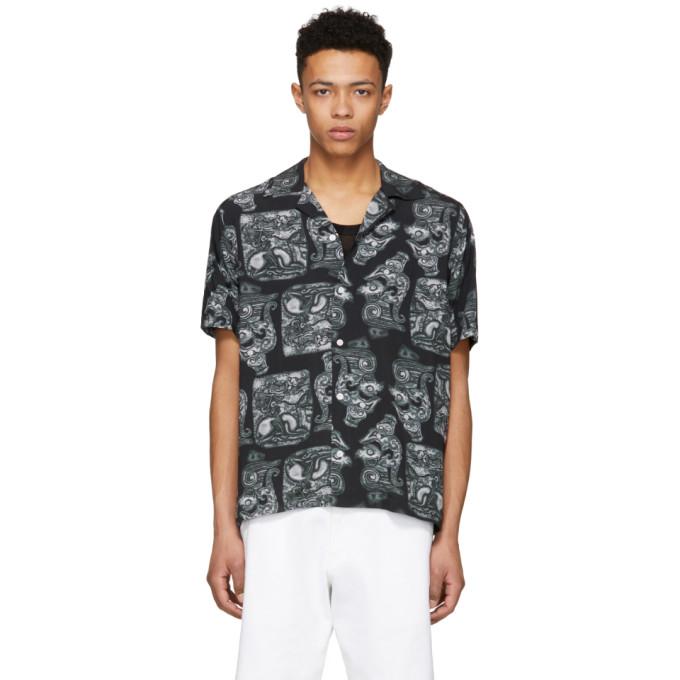 Image of Saturdays NYC Black Canty Pendant Shirt