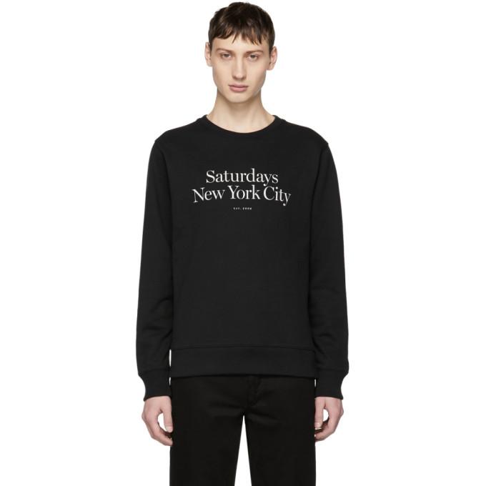 Image of Saturdays NYC Black Bowery Miller Standard Sweatshirt