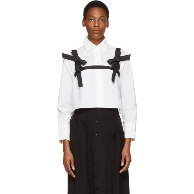 Shushu/Tong White Cropped Harness Shirt