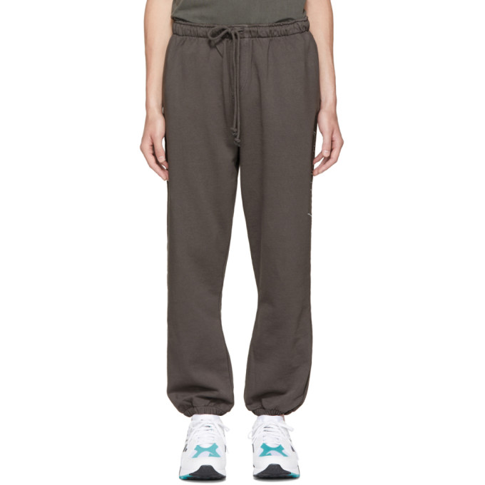 Image of Second/Layer Grey Script Logo Lounge Pants