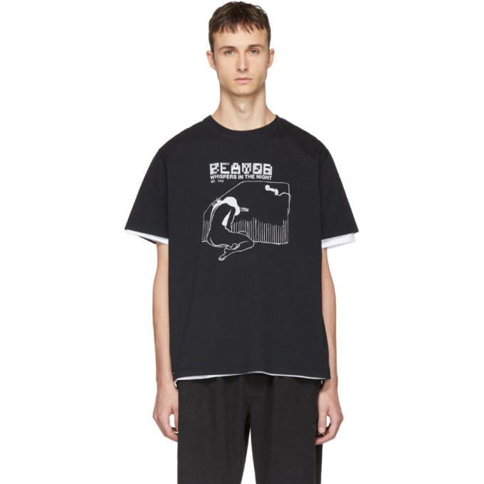Image of Second/Layer Black 'Whispers In The Night' T-Shirt