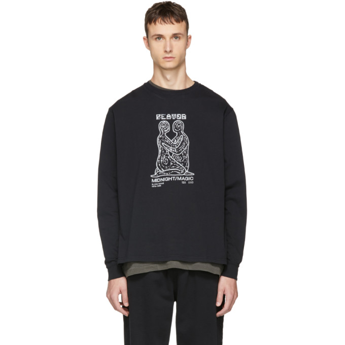 Image of Second/Layer Black Long Sleeve 'Midnight Magic' T-Shirt