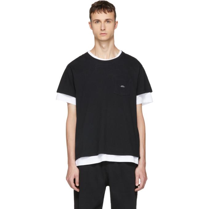 Image of Second/Layer Black Spiral Pocket T-Shirt