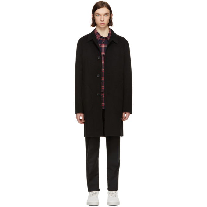 Coach 1941 Black Wool Double Faced Coat